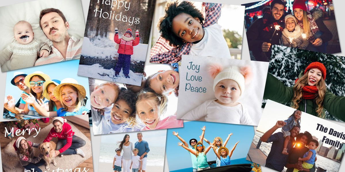 An assortment of holiday cards and photo books | Motif Photos