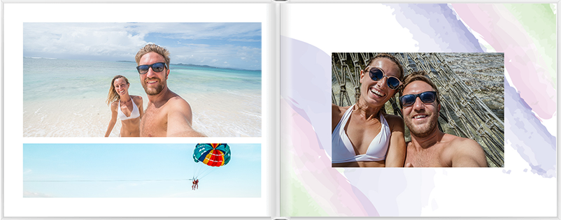 Designing the layout of a custom romantic photo book | Motif