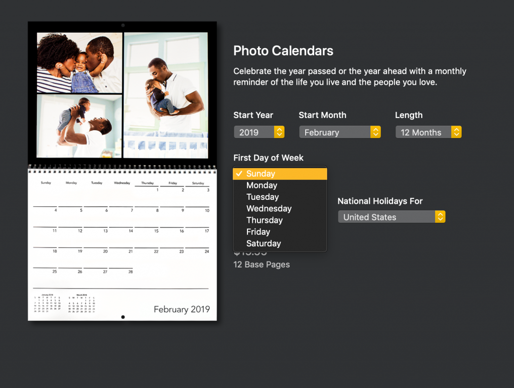 Editing a custom Motif calendar by the day of the week | Motif