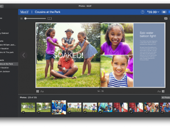A custom photo book with cousins playing at the park | Motif