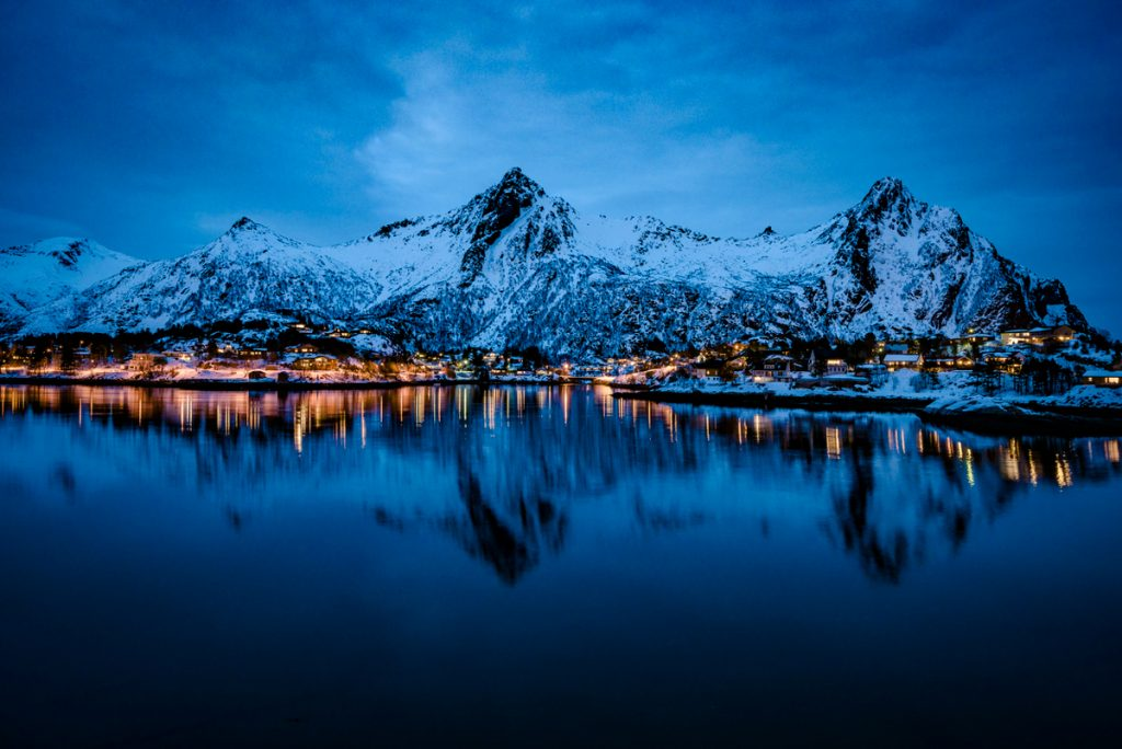 Winter Photography During the Blue Hour