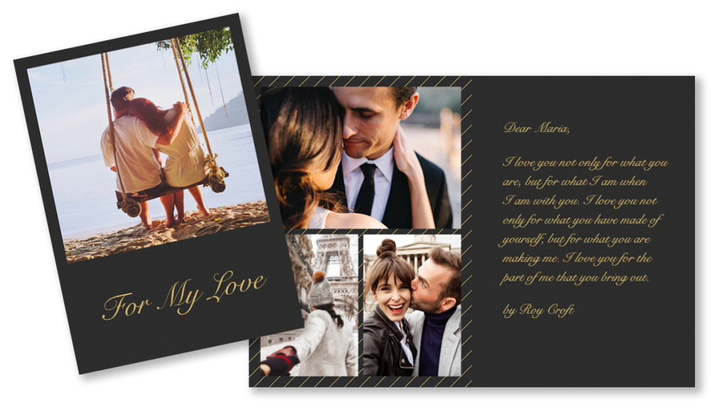 A love letter made on a Motif Custom Card | Motif