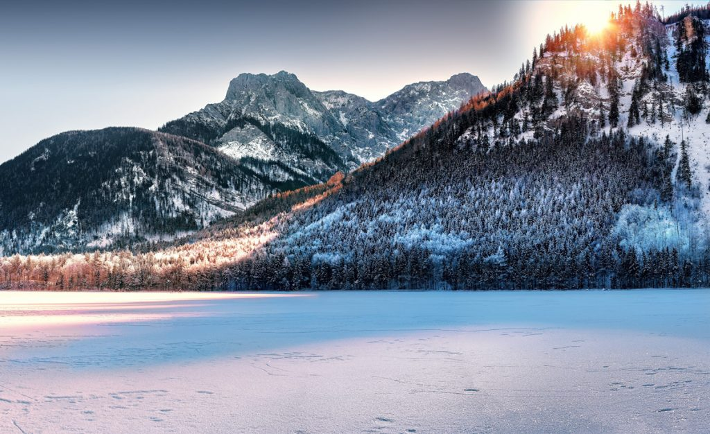 Sunny Winter Landscape Photography