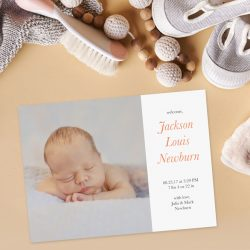 Create a unique birth announcement with Motif