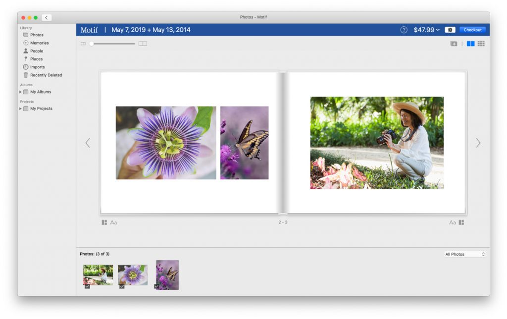 Editing a Mother's Day photo album with a focus on nature | Motif