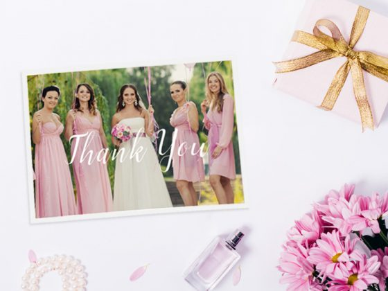 Thank Your Bridesmaids with Motif Photo Cards