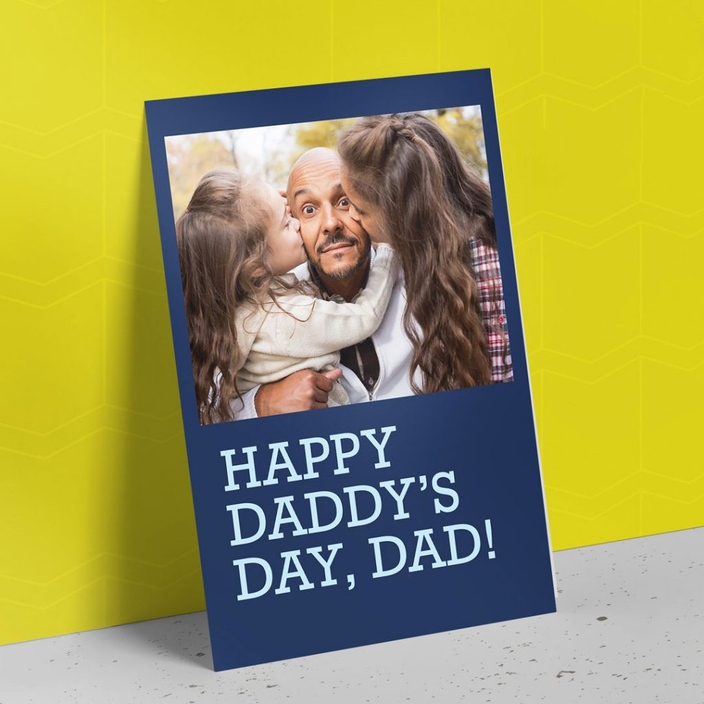 "A custom ""Happy Father's Day"" card by Motif 