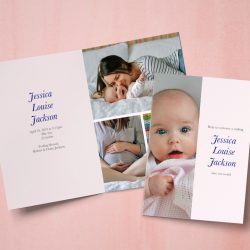 Ideas for adorable baby photo announcements