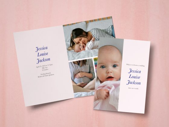 A collection of baby announcement photo cards | Motif