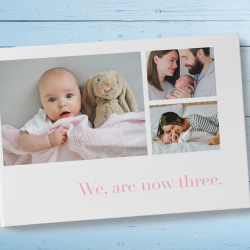 A baby announcement photo book idea | Motif