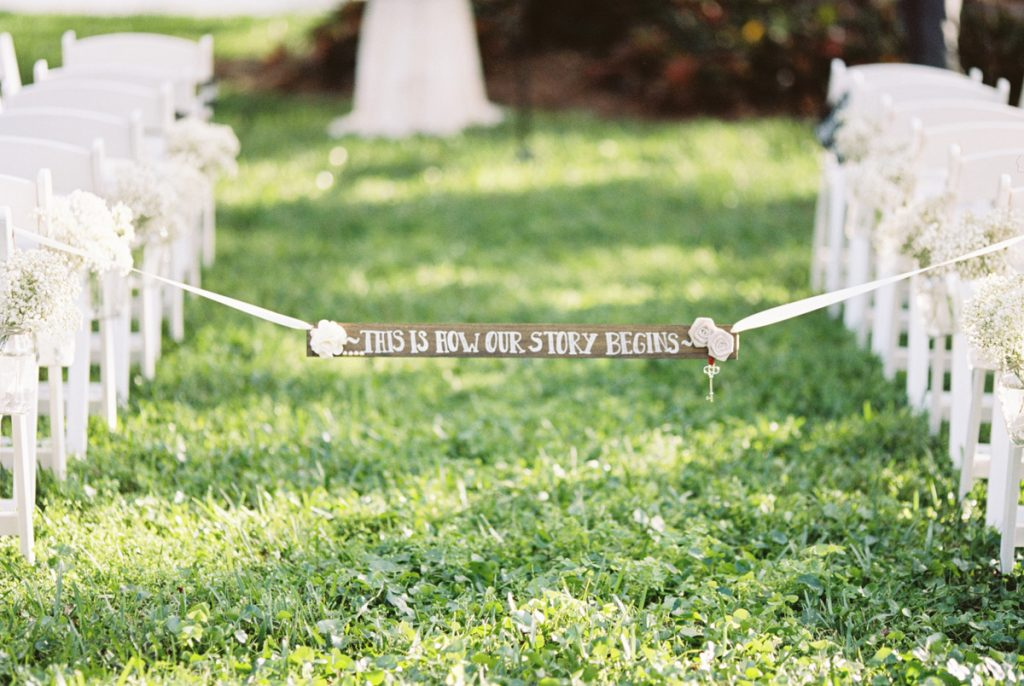 Showing off the aisle of your ceremony is a great wedding photo idea | Motif