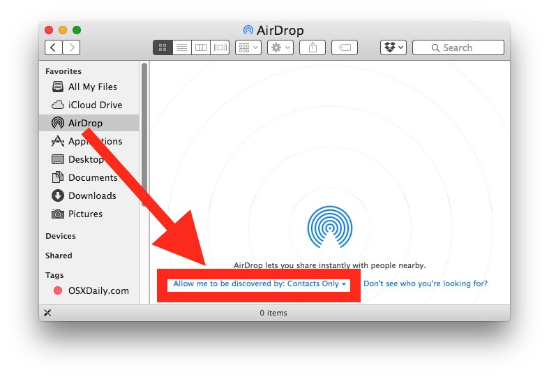 Make sure you change the 'allow to be discovered by' option to 'Everyone' or 'Contacts Only.'