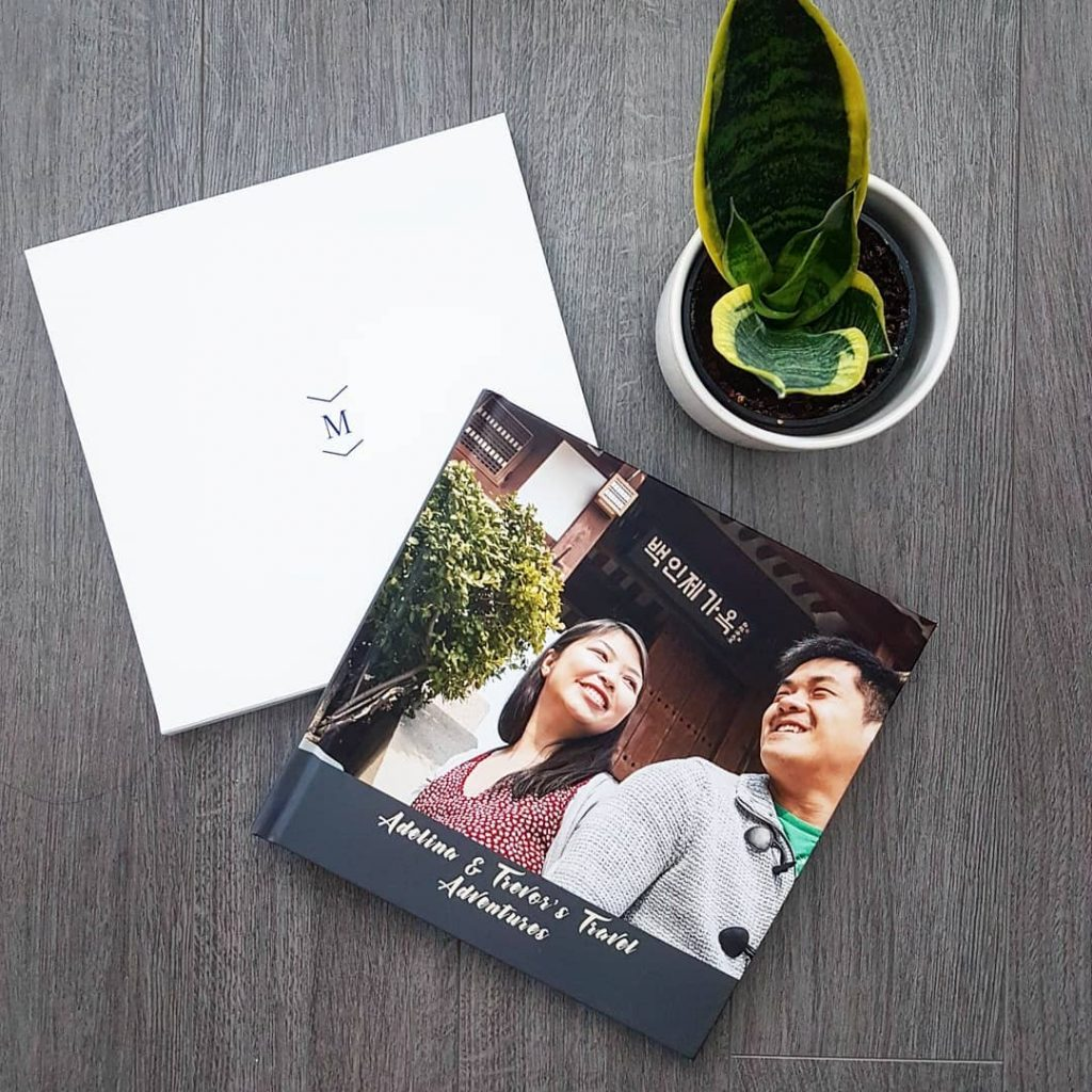 coffee table photo book of honeymoon memories | Motif