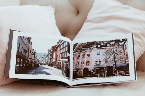 coffee table photo book of travel adventure | Motif