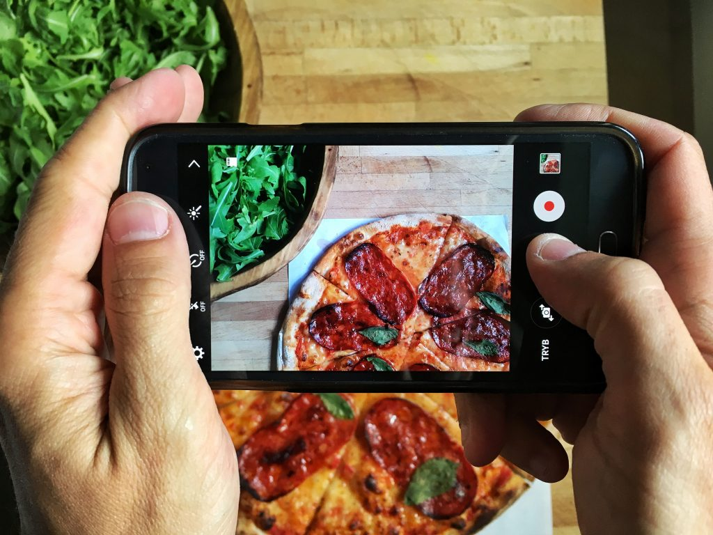 Choose the right angle for photographing food.
