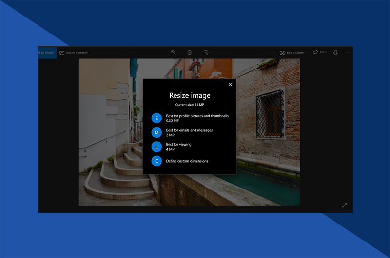 Reduce a photo size Windows - Resize Image