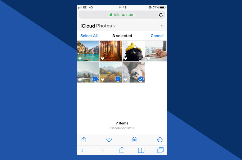 iCloud - iPhone Choose photos for deletion