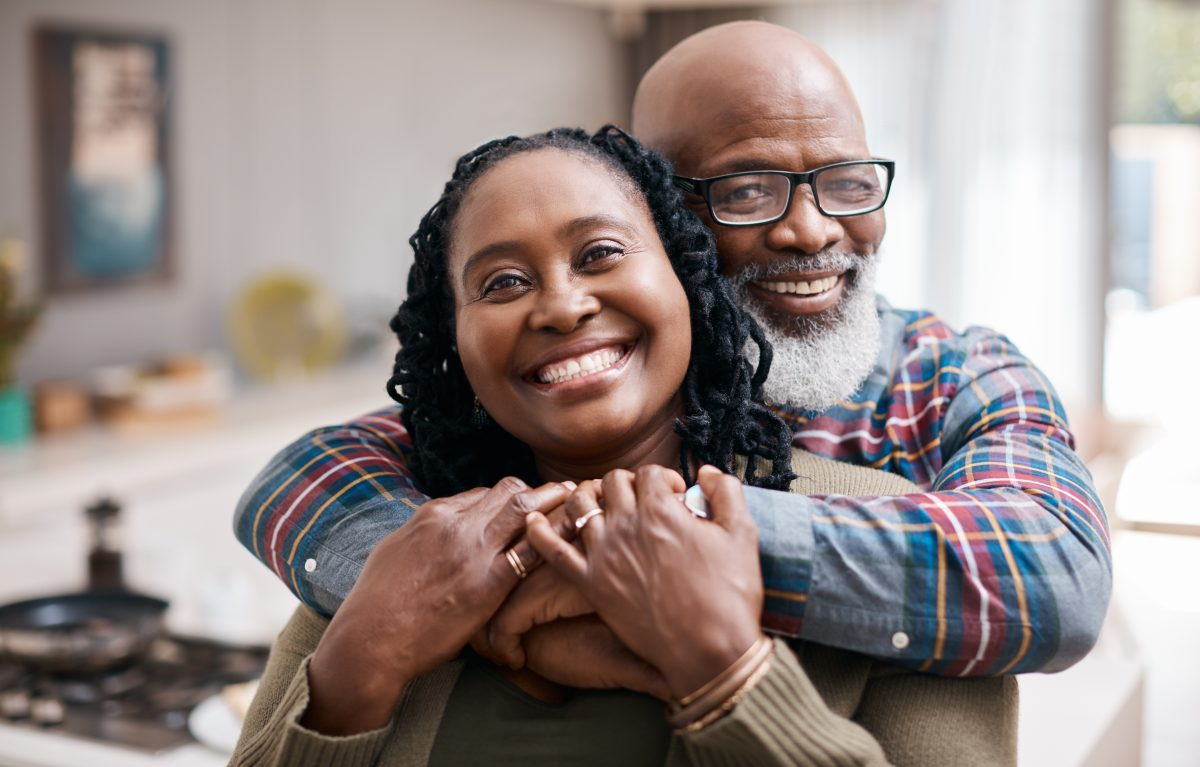 Portrait of a mature couple spending quality time together at home