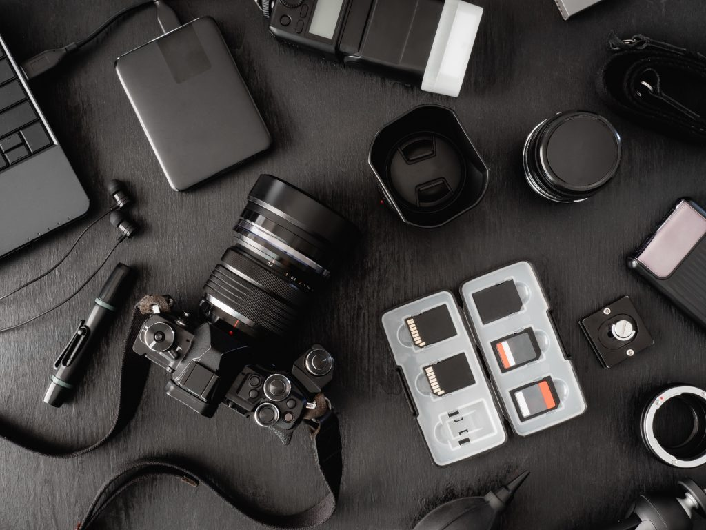 There are numerous parts of a camera, many of which are covered in this photography dictionary.