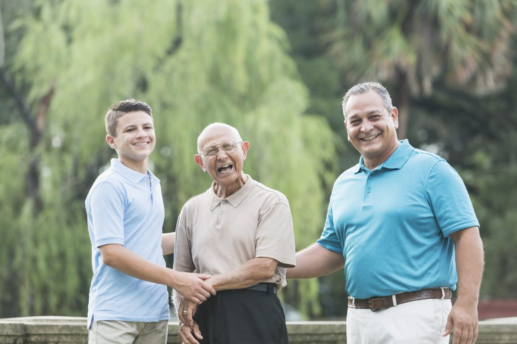 Pair your dad-themed jokes with a picture of three generations of fathers and sons.
