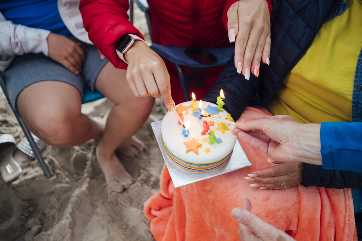 Let your custom birthday party invitation bring the party to the beach.