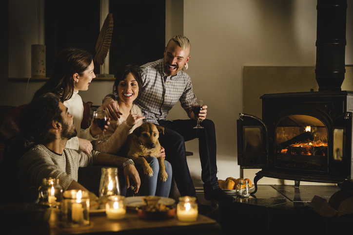 A fireside get together doesn't have to look dark with the correct white balance.