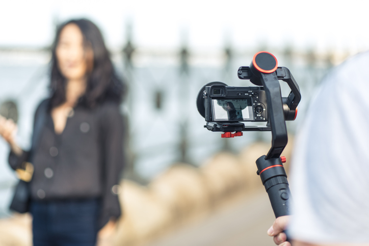 An iPhone handle grip makes taking photos comfortable and safe.