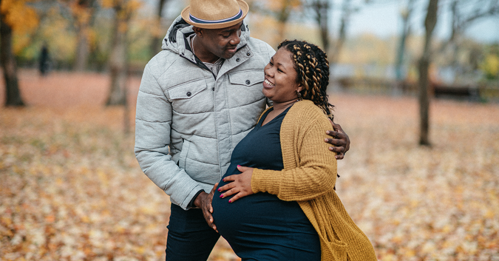 Take couples pregnancy pictures where you love to spend time together.