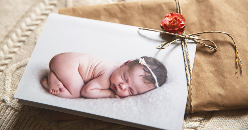 Introduce your new baby with a creative photo baby announcement.