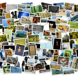 Stack of photos - background