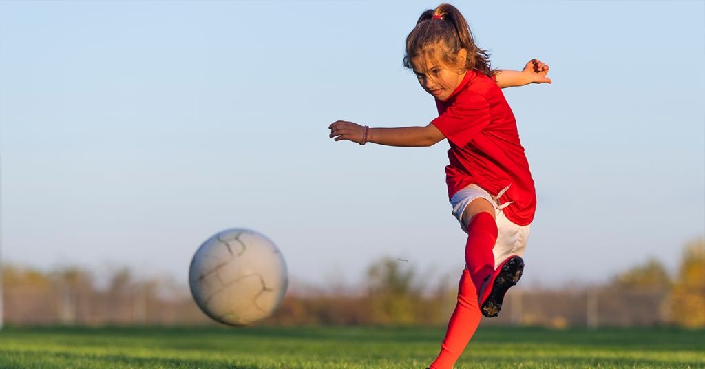The iPhone camera's Burst mode captures fast movement, including kids in action playing sports.