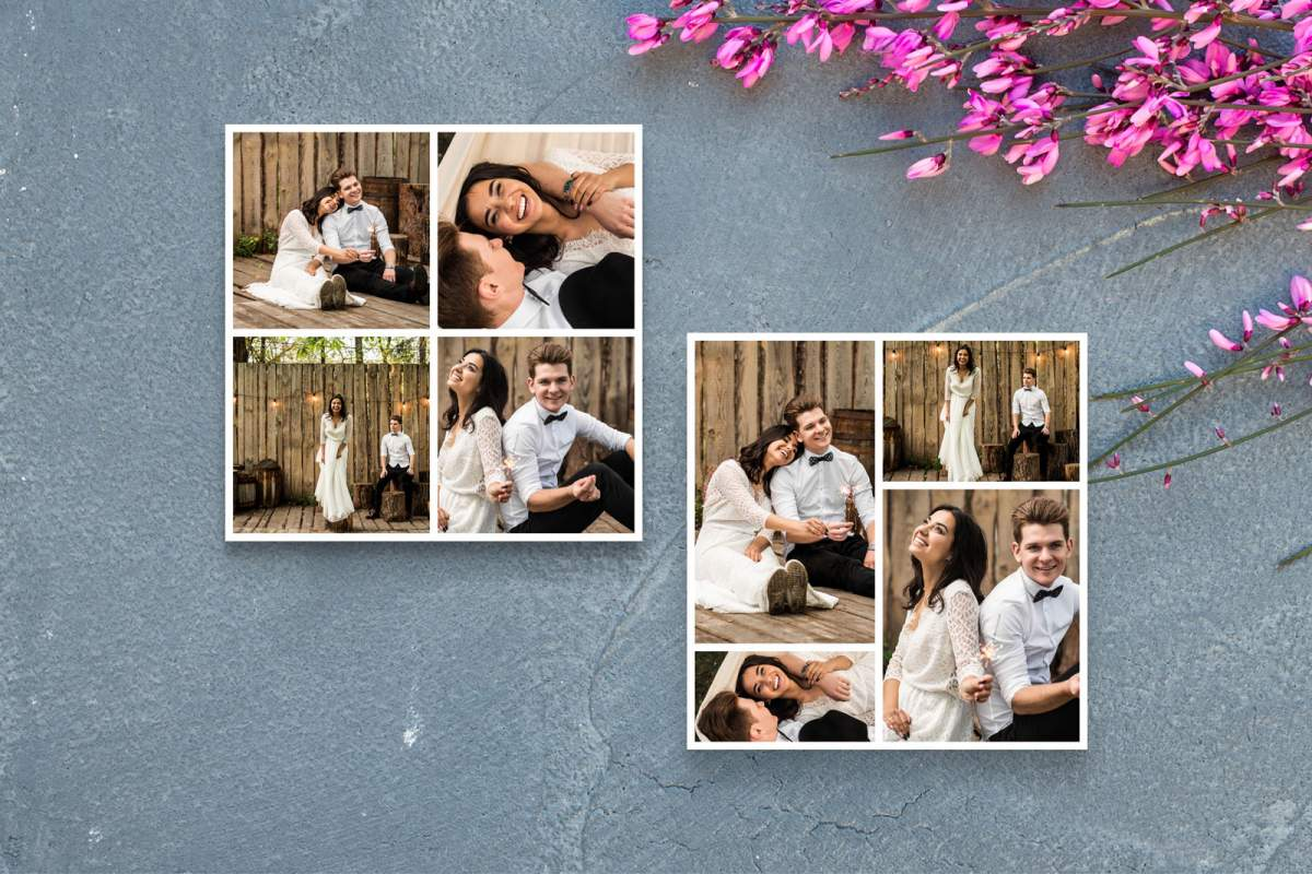 Engagement photo collage