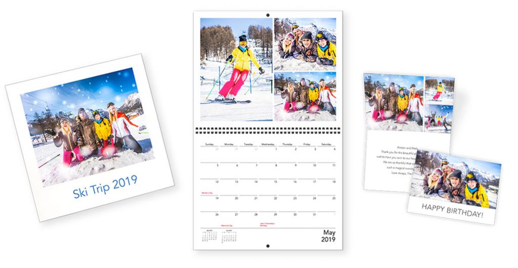 An assortment of Motif products including cards, calendars and photo books   Motif